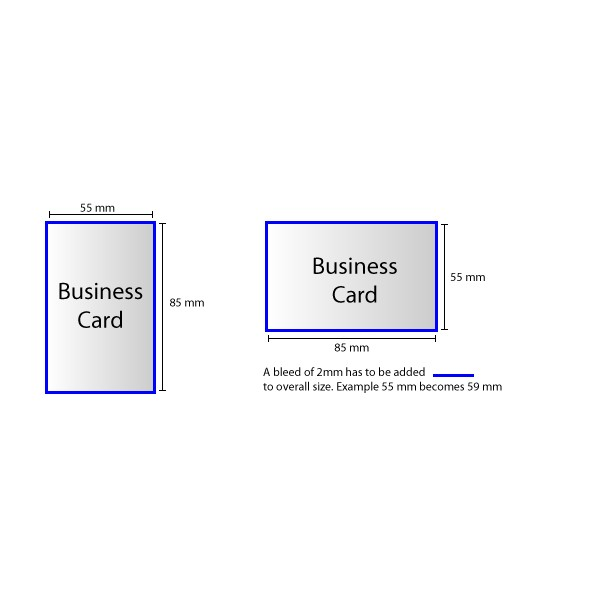 Business Card Double Sided 350gsm Bognor Print