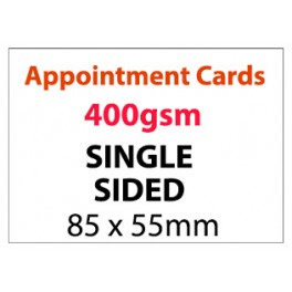 Appointment Card Single Sided - 400gsm